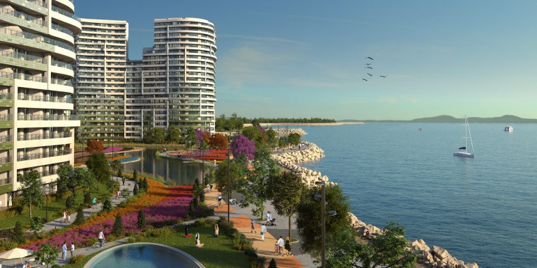 Spectacular Beach Front Apartments for sale In Atakoy Istanbul