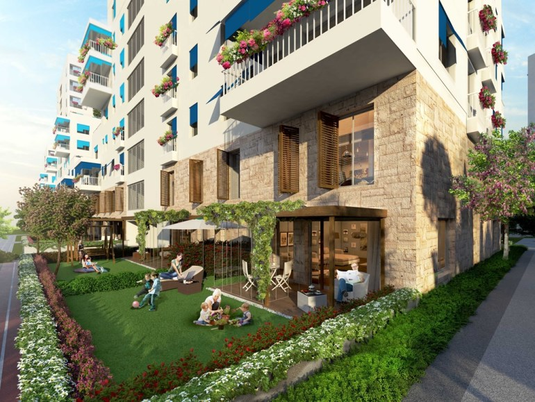 Unique Design Garden apartment for sale In Halkali Istanbul