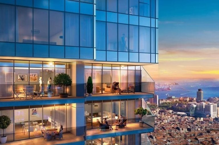 Luxury Residence with Bosphorus View for sale In Sisli Istanbul