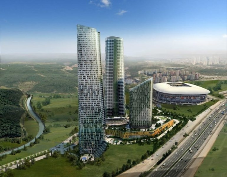 Residence Apartment Next to Football Stadium for sale In Seyrantepe Istanbul