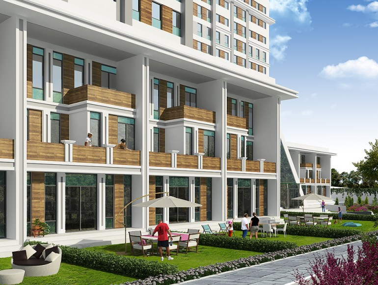Triplex Garden Apartment for sale In Basaksehir Istanbul