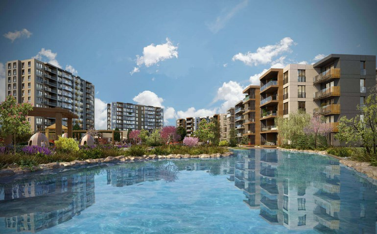 Waterside Apartment for sale In Sancaktepe Istanbul